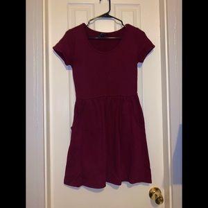 XS Burgundy Forever 21 Dress